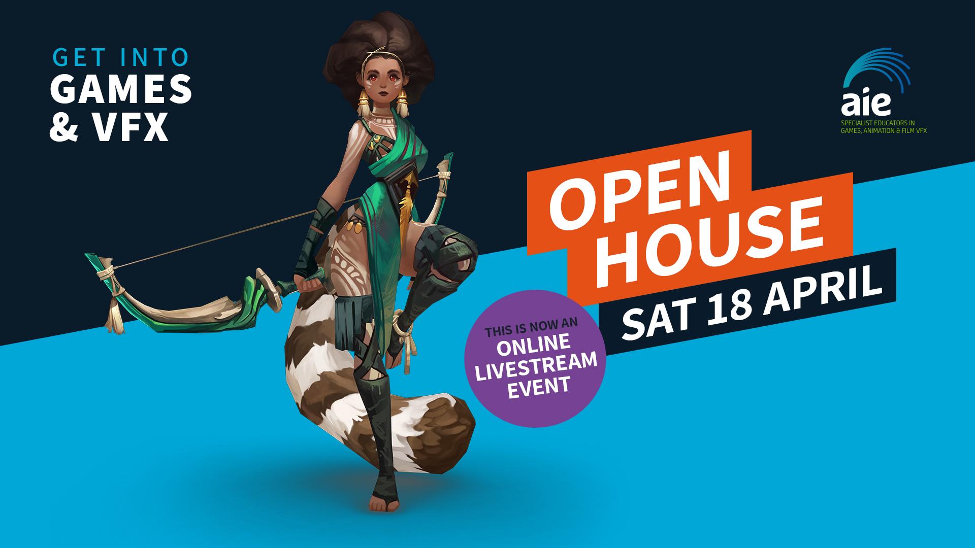 AIE Open House Square Image | April 2020 Now Online