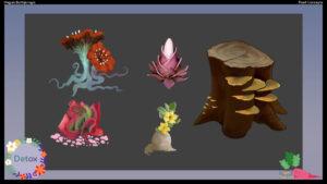 Detox Game Concept Art 03 - Artcade Student Project | AIE