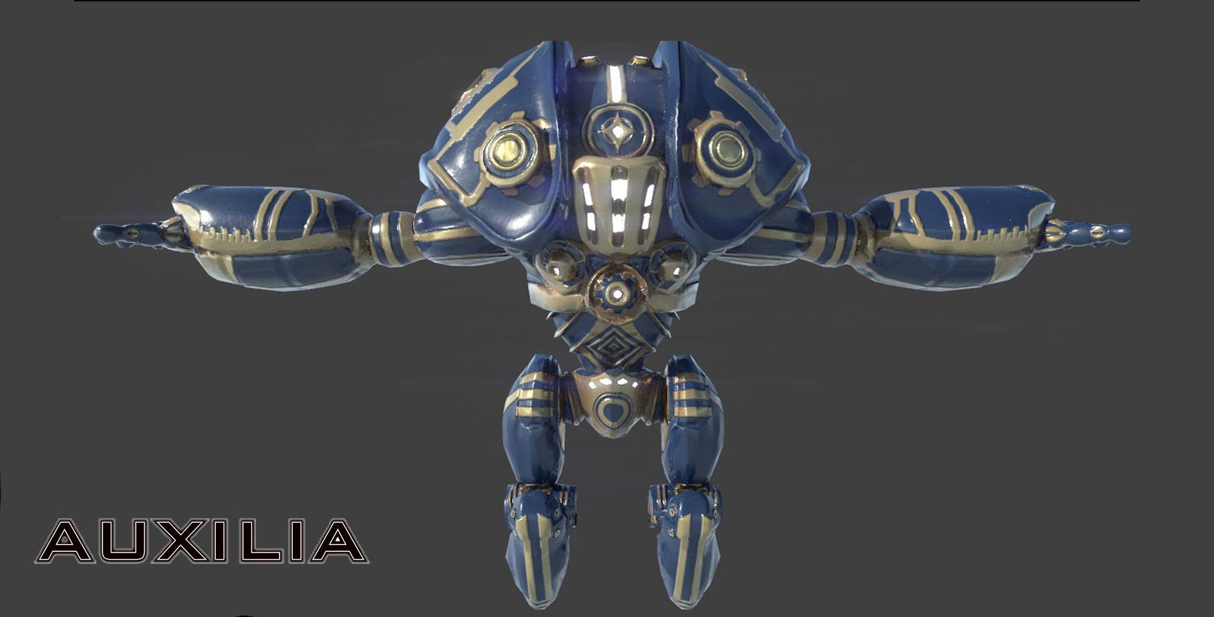 Auxilia Game Robot Render - Artcade Student Project | AIE